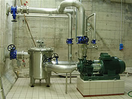 TiBel Spa dyeing factory– Oxigenization pumps room